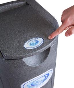 Tapa fácil de presionar secador centrifugador