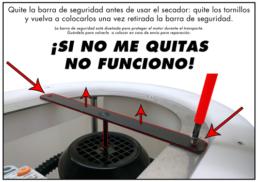 Barra de seguridad secador centrifugadora